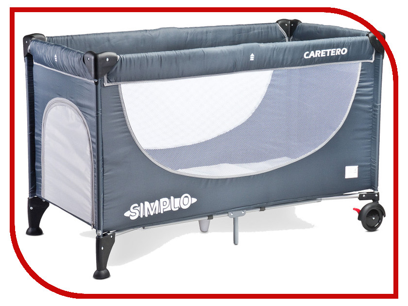 Манеж-кровать Caretero Simplo Grey