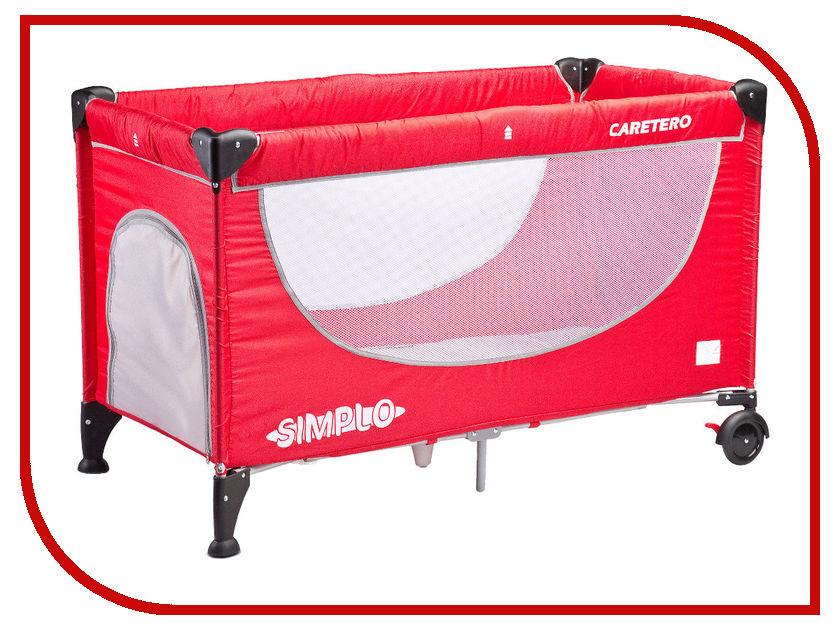 Манеж-кровать Caretero Simplo Red basic caretero