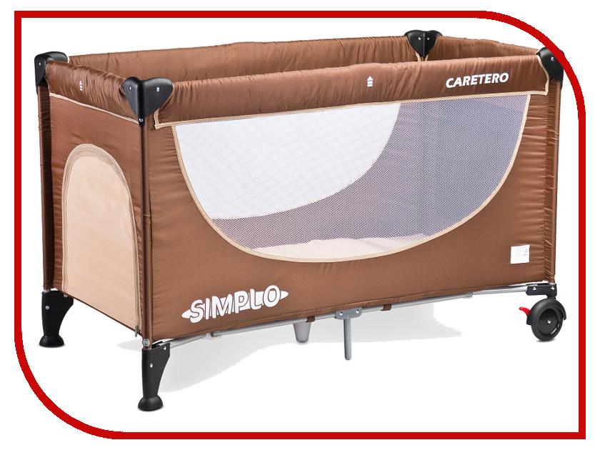 Манеж-кровать Caretero Simplo Brown