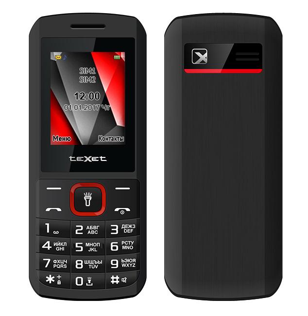 Сотовый телефон teXet TM-127 Black-Red