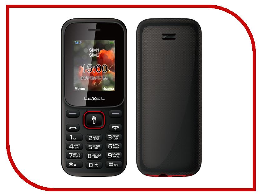 Сотовый телефон teXet ТМ-128 Black-Red книга texet