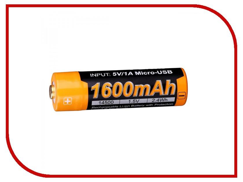 Аккумулятор Fenix 14500 1600 mAh ARB-L14-1600U (1 штука) fenix hl23 gold