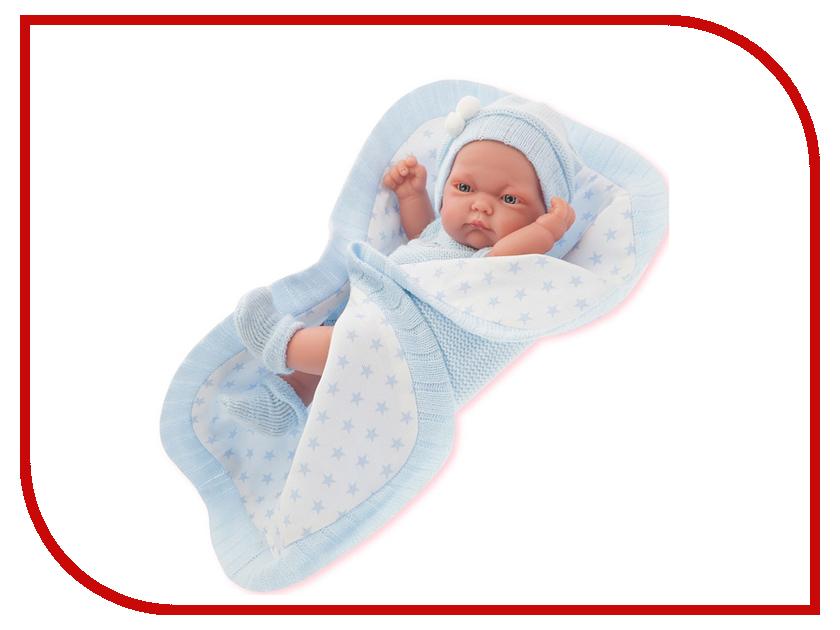 Кукла Antonio Juan Кукла-младенец Карла Light Blue 4069B juan antonio кукла младенец карла в чемодане цвет одежды розовый
