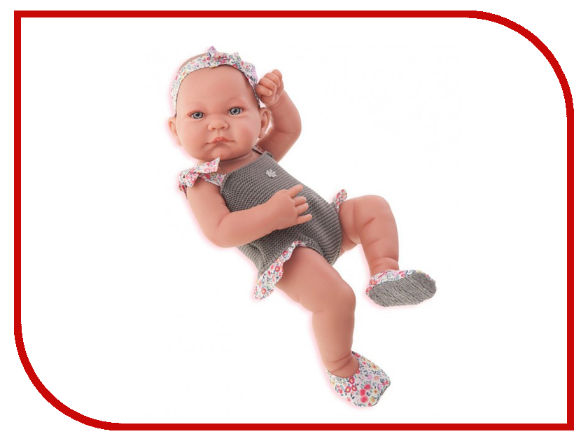 Кукла Antonio Juan Кукла-младенец Ника Gray 5008G juan antonio кукла младенец карла в чемодане цвет одежды розовый