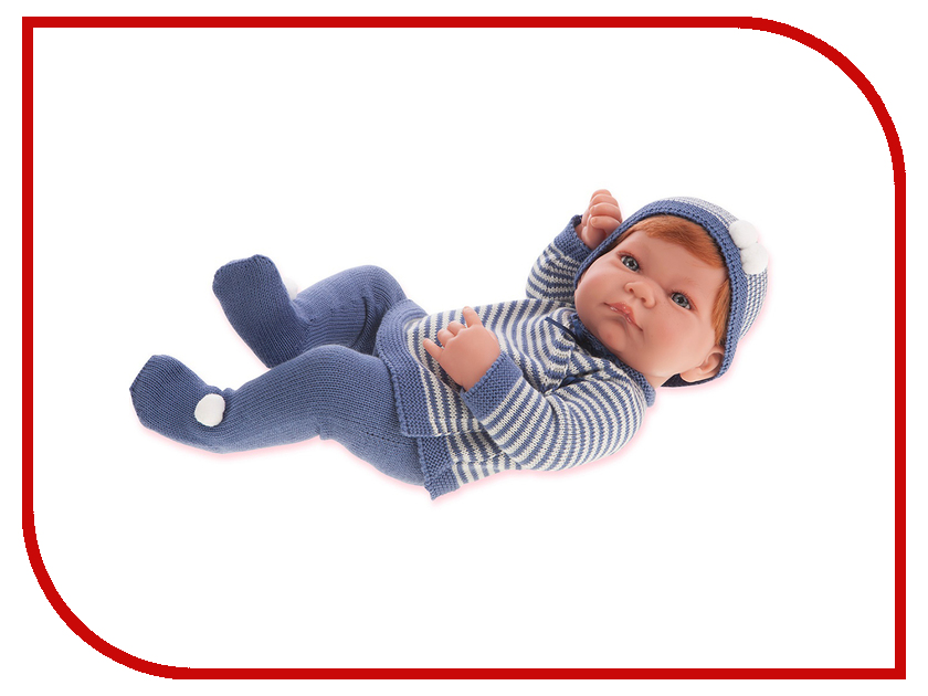 Кукла Antonio Juan Кукла-младенец Мануэль Blue 5013B juan antonio кукла младенец карла в чемодане цвет одежды розовый