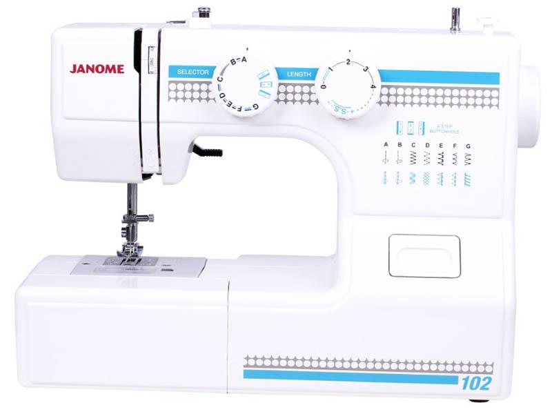 Швейная машинка Janome 102 машинка швейная janome 2141