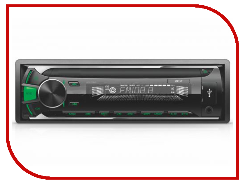 Автомагнитола ACV AVS-1713GD Green acv pi 622