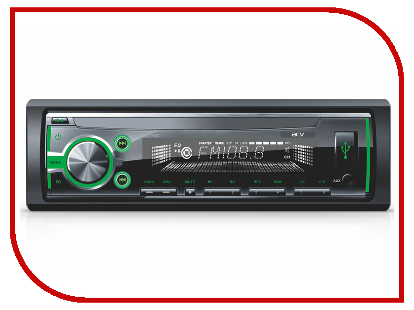 Автомагнитола ACV AVS-1714GD Green цена