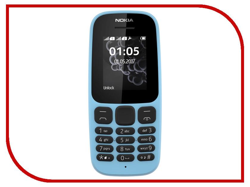 Сотовый телефон Nokia 105 Dual sim (2017) Blue мобильный телефон nokia 105 dual sim 2017 blue