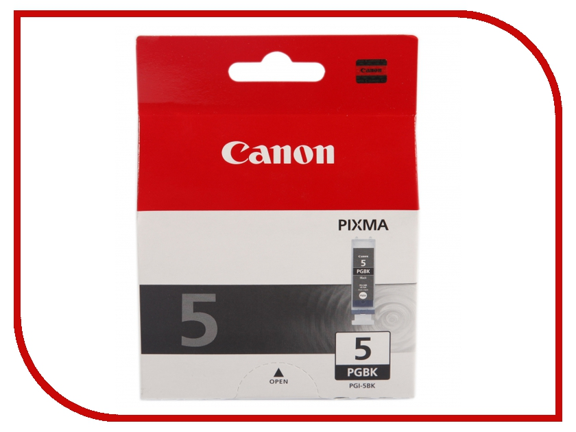 Картридж Canon PGI-5BK Black для PIXMA MP800/MP500/iP5200/iP5200R/iP4200R/IX4000/IX500 0628B024 картридж canon pgi 5bk twin pack black 0628b030
