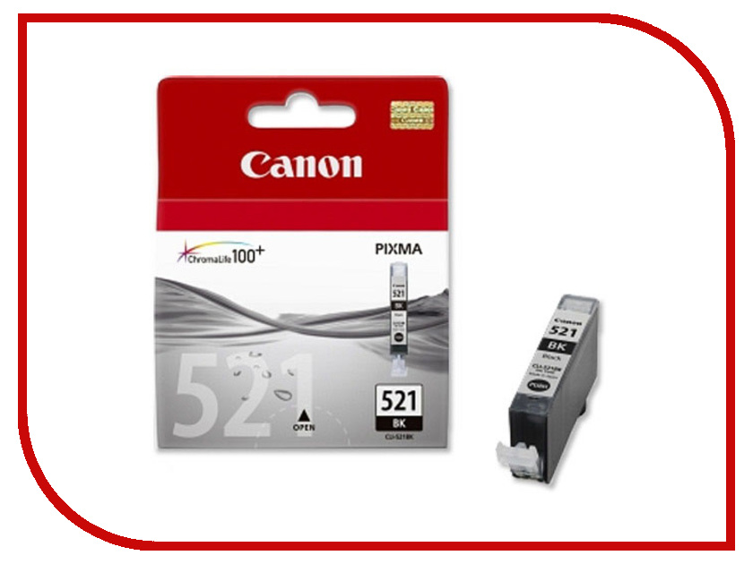 Картридж Canon CLI-521BK Black 2933B004 картридж colouring cg cli 521bk black для canon ip3600 ip4600 mp540 mp620 mp630 mp980