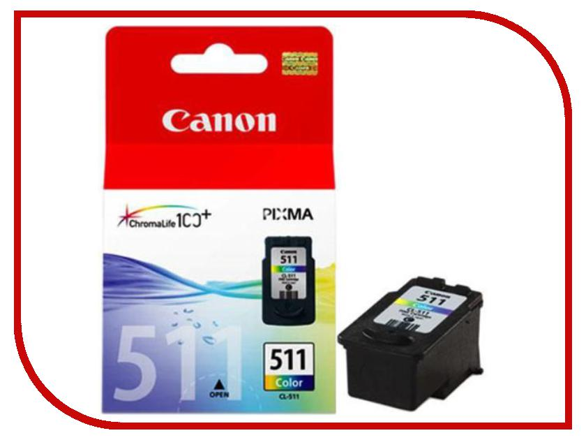 Картридж Canon CL-511 2972B007 Color для MP240/MP250/MP260/MP270/MP490/MX320/MX330<br>