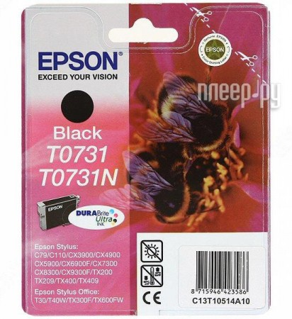 Картридж Epson T0731 EPT10514A10 / C13T10514A10 / T07314A Black для C79/CX3900/CX4900/CX5900<br>