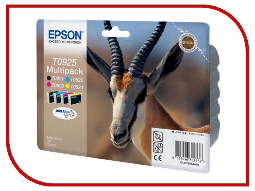 Картридж Epson T0925 C13T10854A10 /T09254A T10854A10 Multipack<br>
