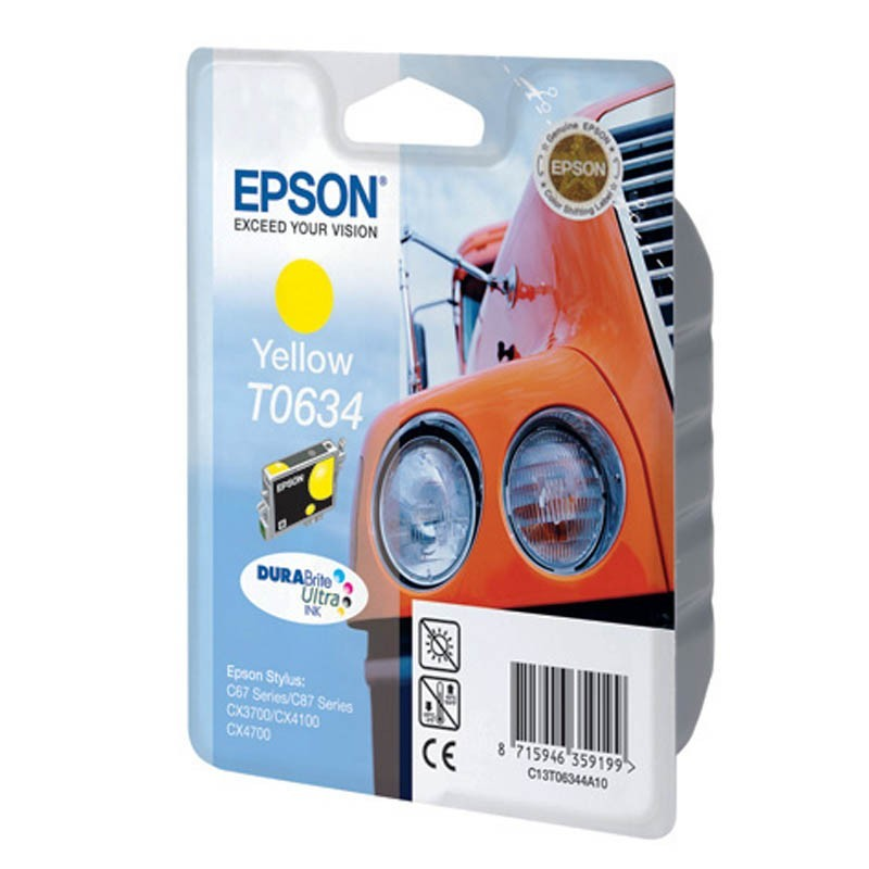 Картридж Epson T0634 C13T06344A10 C13T06344A Yellow