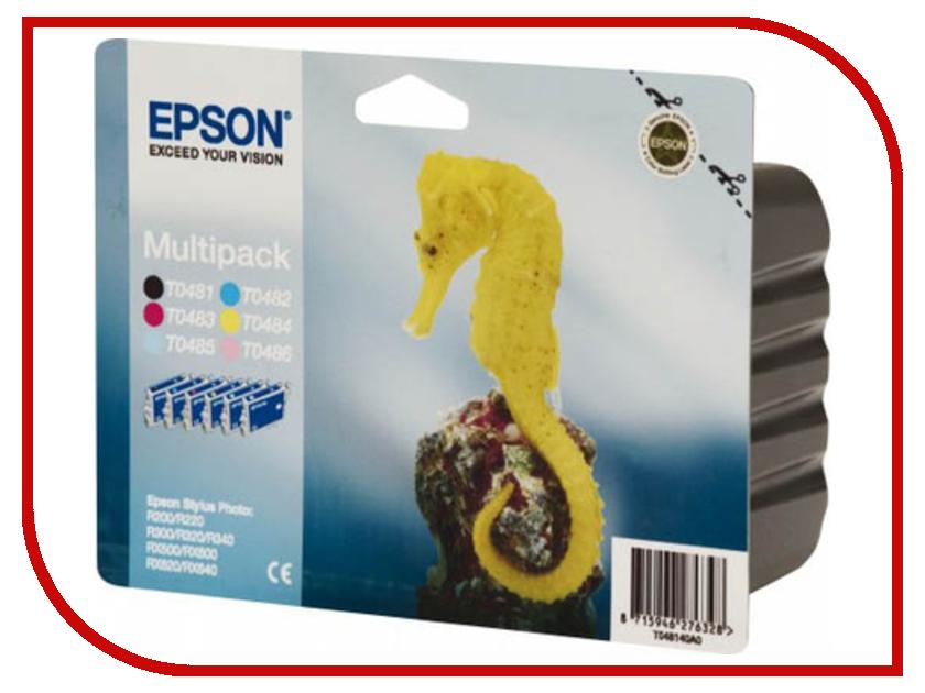 Картридж Epson T0487 C13T04874010 Multipack для R200/R320/RX600 картридж epson t3249 c13t32494010 orange для sc p400