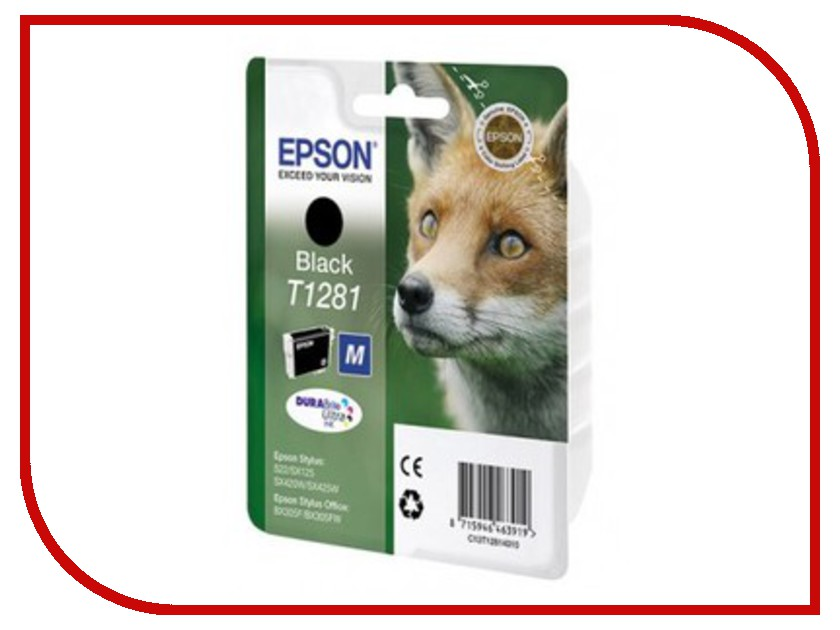 Картридж Epson T1281 C13T12814010/C13T12814012/C13T12814011 / C13T12814021 Black для S22/SX125/SX420W/SX425W/BX305F/BX305FW vention vaa m02 4k hdmi cable male to male 10m