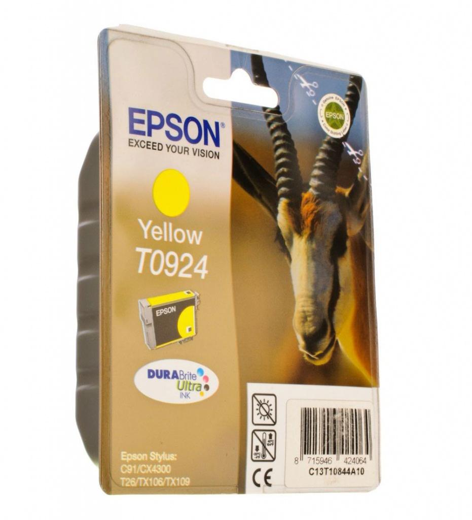 Картридж Epson T0924 EPT10844A10 / C13T10844A10 Yellow цена
