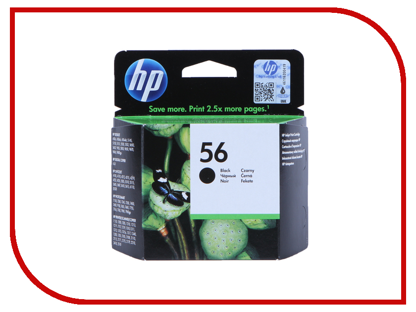 Картридж HP 56 Black C6656AE<br>