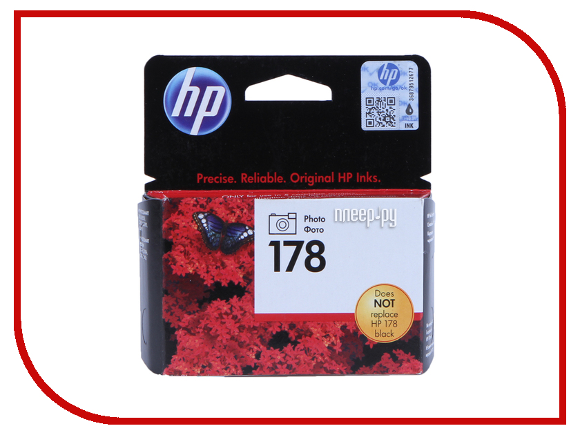 Картридж HP 178 CB317HE Photo Black для B109/C5383/C6383/D5463/Plus B209/B8553 картридж для плоттера hp 91 c9481a photo black