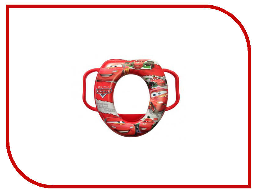 Накладка мягкая на унитаз OKT Disney Тачки GL000320828 Red