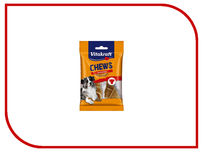 Лакомство Vitakraft Жевательные кости 10cm для собак 66433 корм для птиц vitakraft menu vital для волнистых попугаев основной 1кг