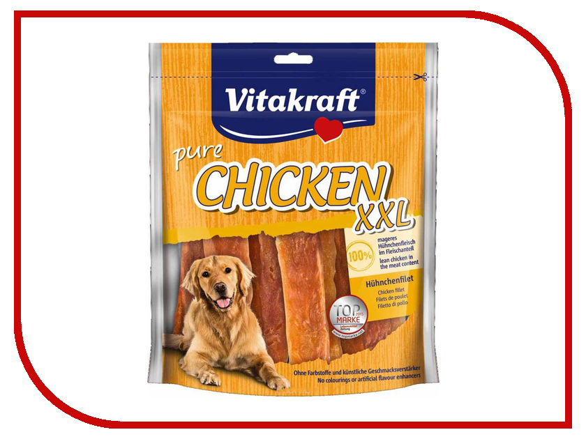Лакомство Vitakraft Куриное филе 250g для собак 66352 лакомство для собак titbit classic вяленое куриное филе 50 г