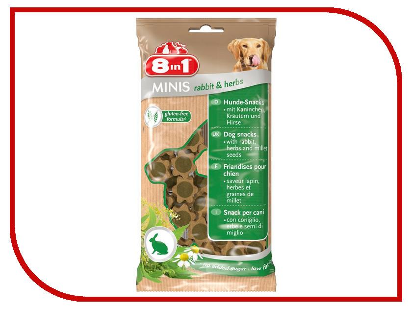 Лакомство 8 in 1 Minis Rabbit & Herbs 100g для собак 122760