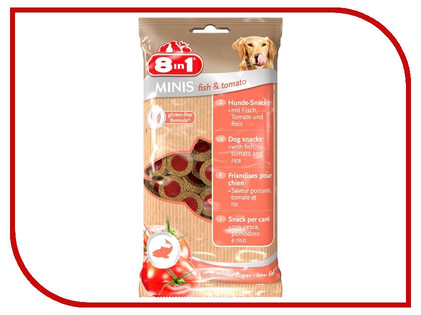 Лакомство 8 in 1 Minis Fish & Tomato 100g для собак 125228