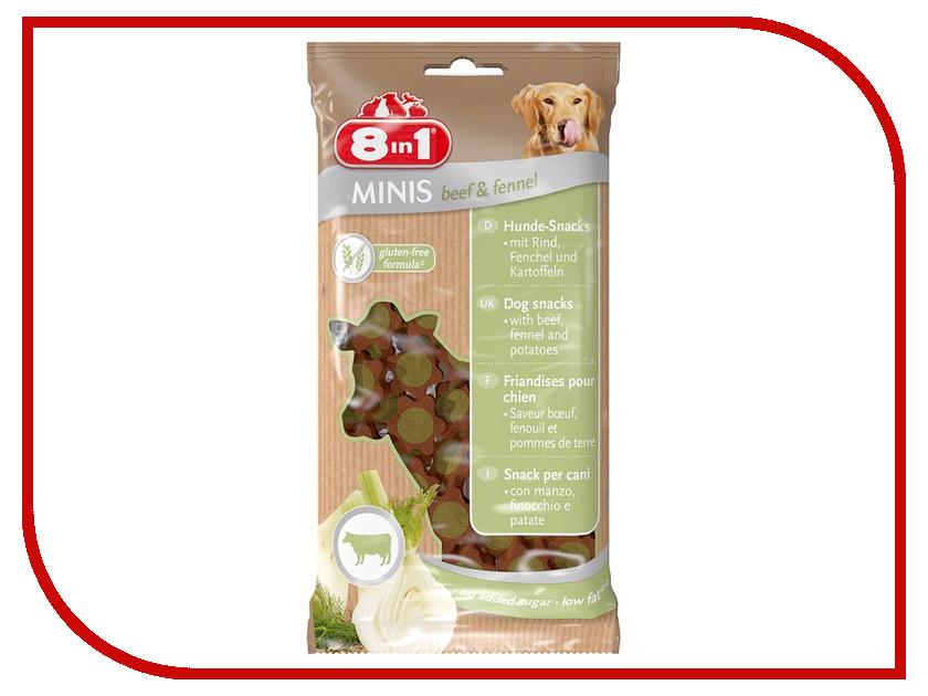 Лакомство 8 in 1 Minis Beef & Fennel 100g для собак 125303