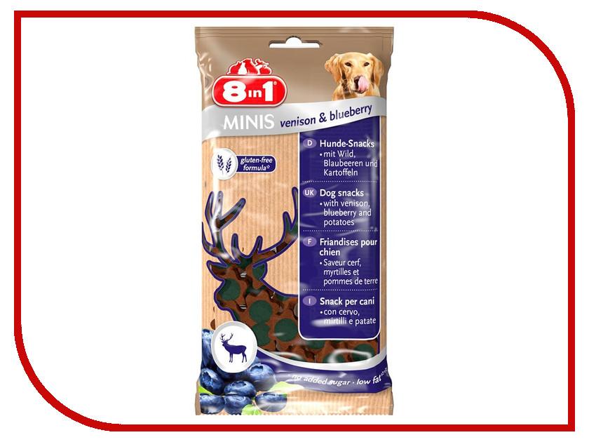Лакомство 8 in 1 Minis Venison & Blueberry 100g для собак 125327
