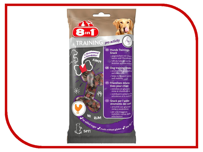 Лакомство 8 in 1 Training Pro Activity 100g для собак 126614