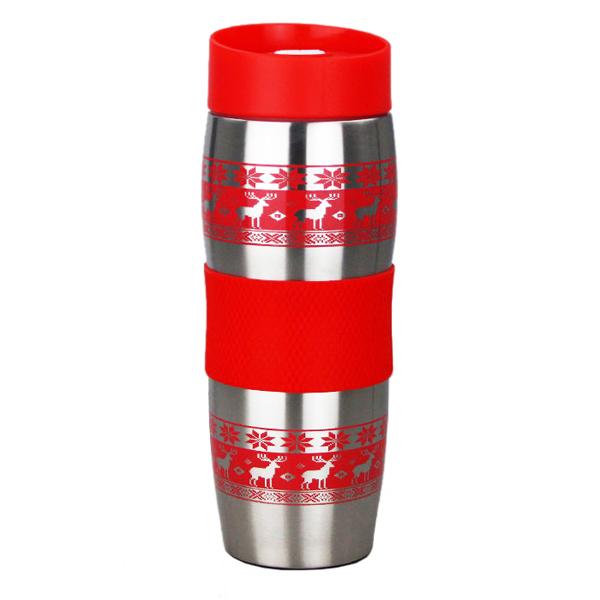 все цены на Термокружка Alpenkok Олени 400ml Red AK-04022A онлайн