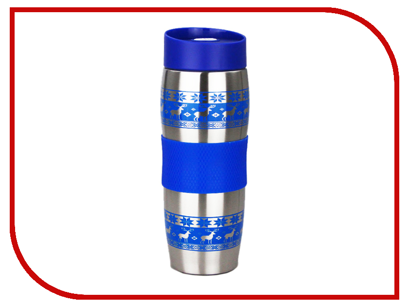 Термокружка Alpenkok Олени 400ml Blue AK-04023A