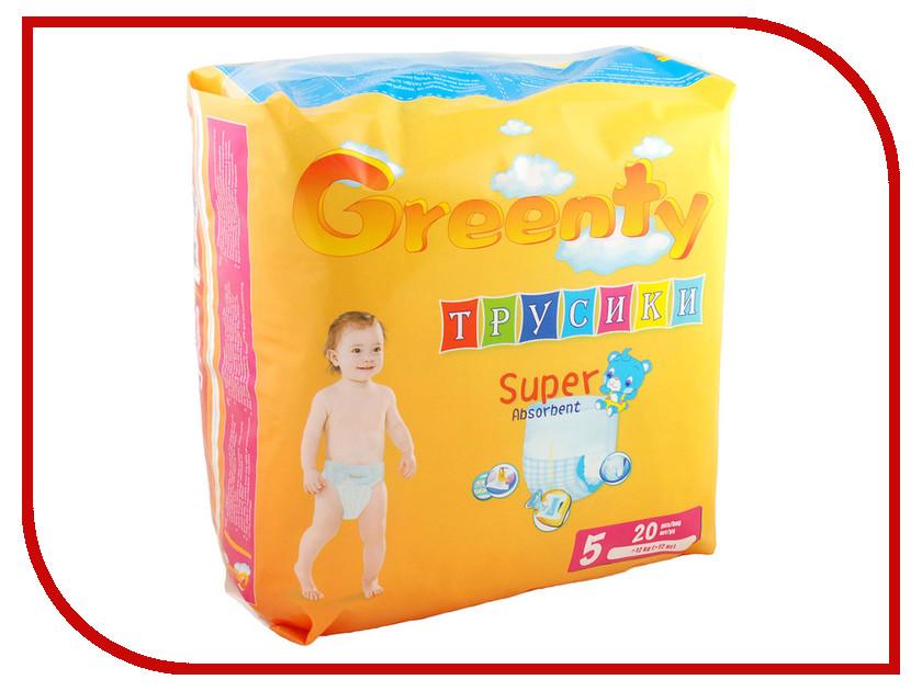 Подгузники Greenty 5 12кг 20шт GREP-5 greenty подгузники greenty 2 3 6 кг 60 шт