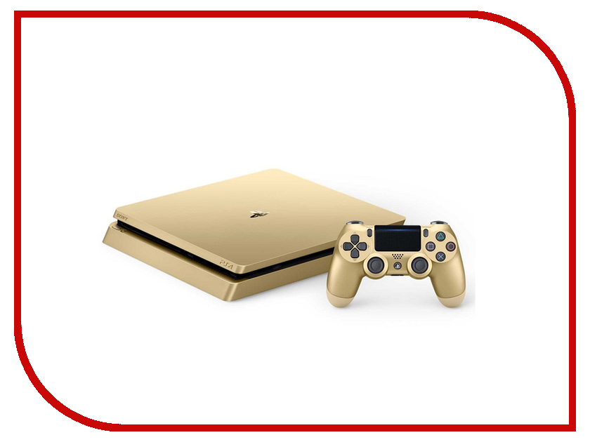 Игровая приставка Sony PlayStation 4 Slim 500Gb Gold CUH-2008A + DualShock 4 игровая приставка sony playstation 4 1tb cuh 1208b черный star wars battlefront
