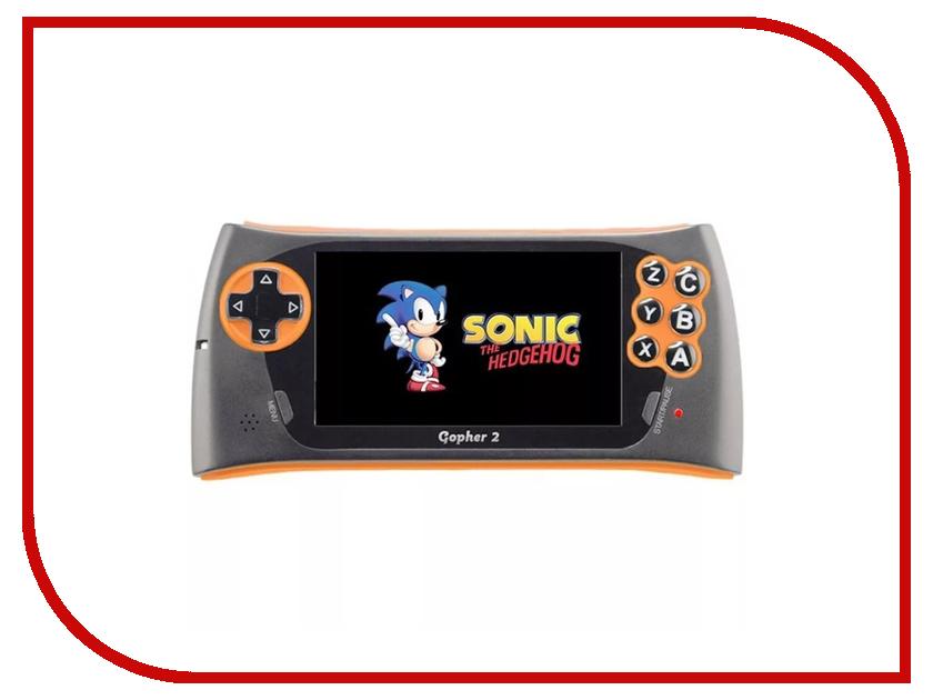 Игровая приставка SEGA Genesis Gopher 2 LCD 4.3 Orange + 500 игр sega magistr drive 2 игровая приставка 65 игр