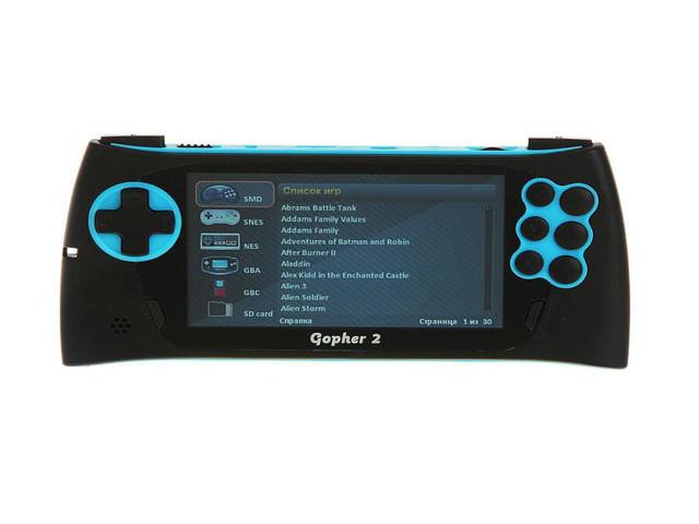Игровая приставка SEGA Genesis Gopher 2 LCD 4.3 Blue + 500 игр