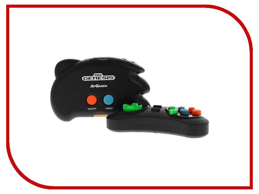 Игровая приставка SEGA Genesis Nano Trainer Black + 390 игр portable sega micro drive festa игровая приставка 19 игр