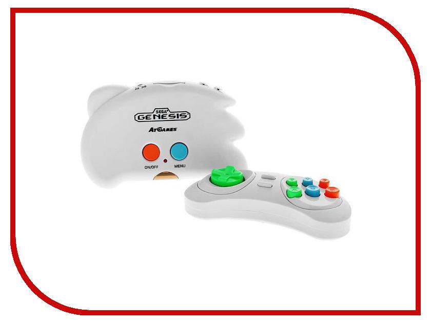 Игровая приставка SEGA Genesis Nano Trainer White + 40 игр