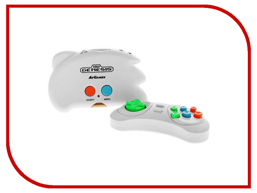Игровая приставка SEGA Genesis Nano Trainer White + 40 игр sega magistr drive 2 игровая приставка 65 игр
