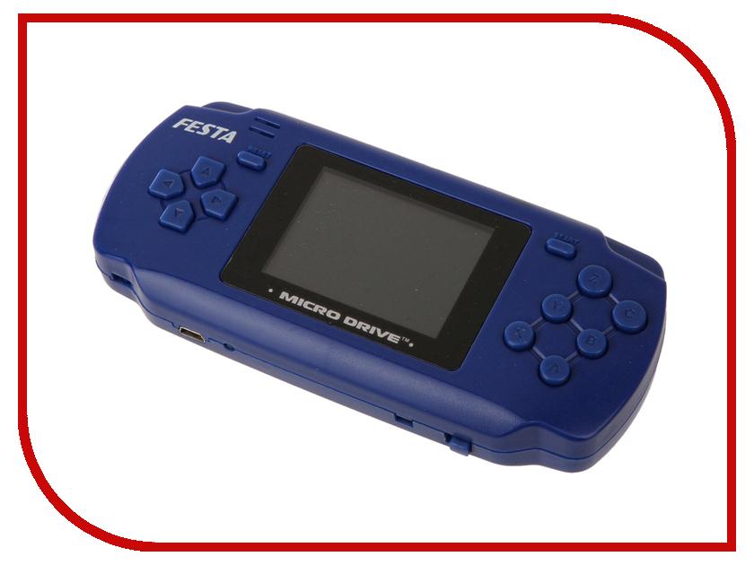 Игровая приставка SEGA Micro Drive Festa 2.4 Blue + 19 игр