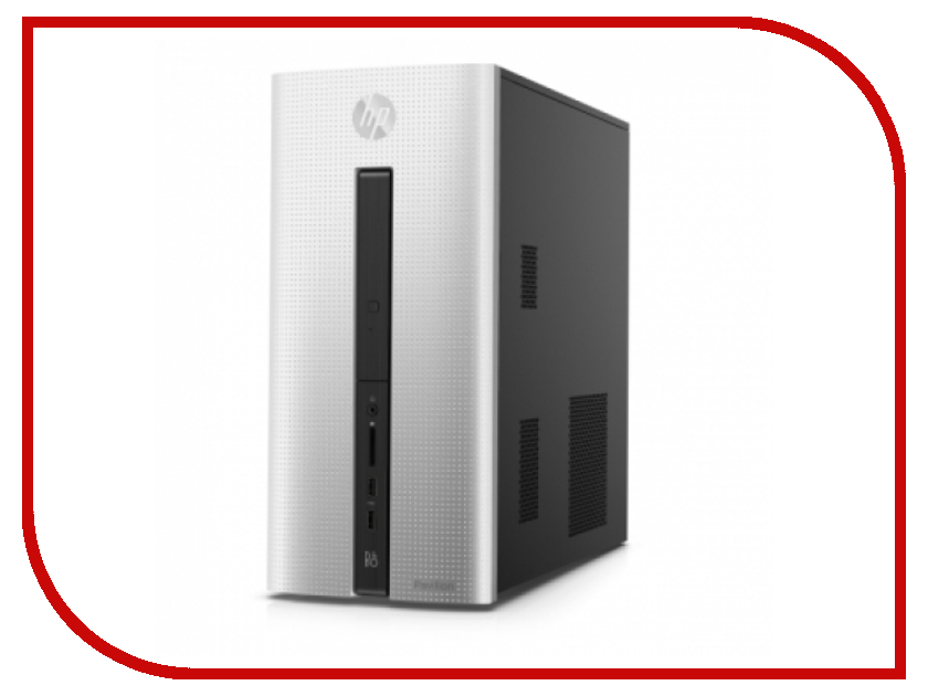 Неттоп HP Pavilion 560 560-p170ur Natural Silver 1GS73EA (Intel Core i5-7700HQ 2.8 GHz/12288Mb/2000Gb + 128Gb SSD/DVD-RW/NVidia GeForce GTX 1050 2048Mb/Wi-Fi/Bluetooth/Windows 10)
