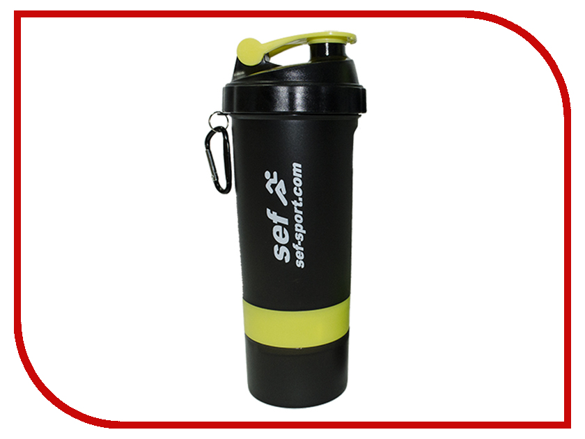 Шейкер Sef SH-001 600ml Black шейкер sport elite sh 300 850ml black
