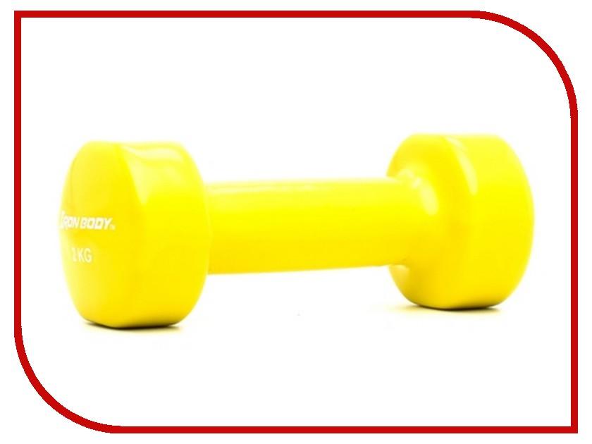 Гантель Iron Body 4764DP 2kg велотренажер iron body 7036bk