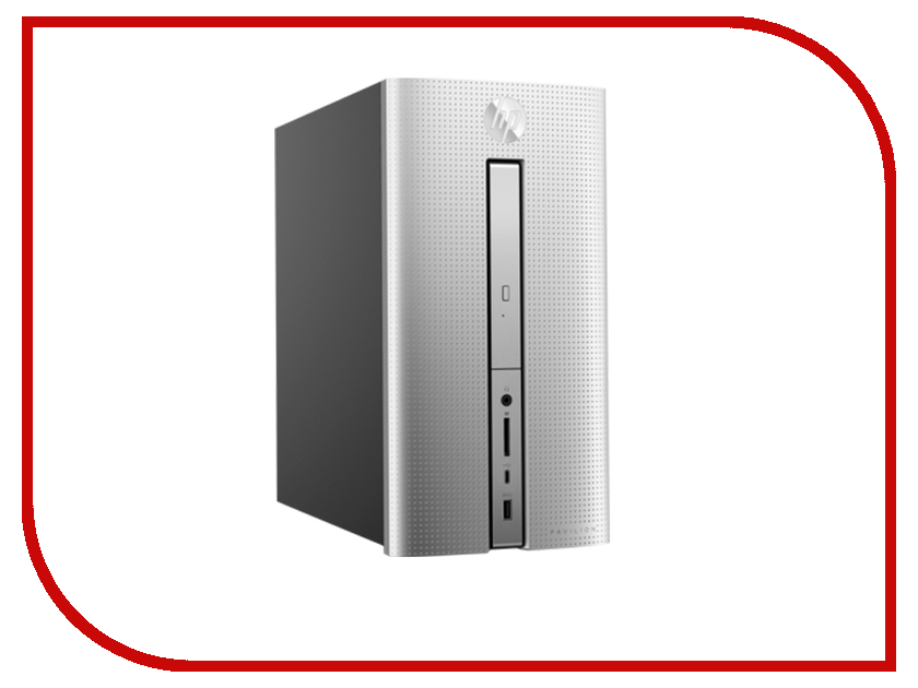 Настольный компьютер HP Pavilion 570 570-p000ur Silver 1GS75EA (Intel Pentium G4560 3.5 GHz/4096Mb/1000Gb/DVD-RW/AMD Radeon R5 435 2048Mb/Wi-Fi/Bluetooth/Windows 10)
