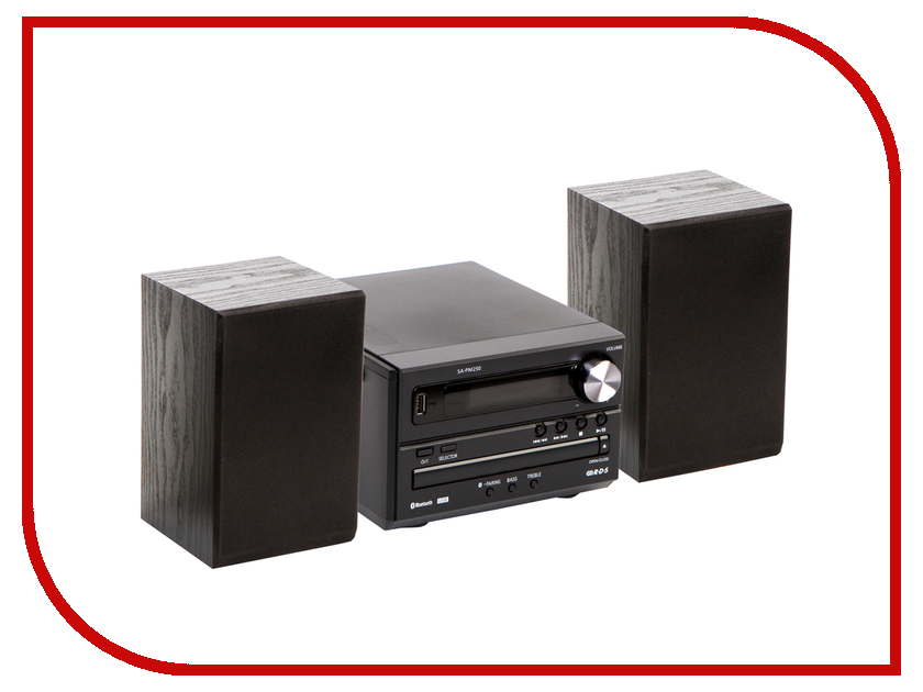 Минисистема Panasonic SC-PM250 Black SC-PM250EE-K panasonic cd players sc ua3gs k vinyl cd player portable music center cassette player radio boombox