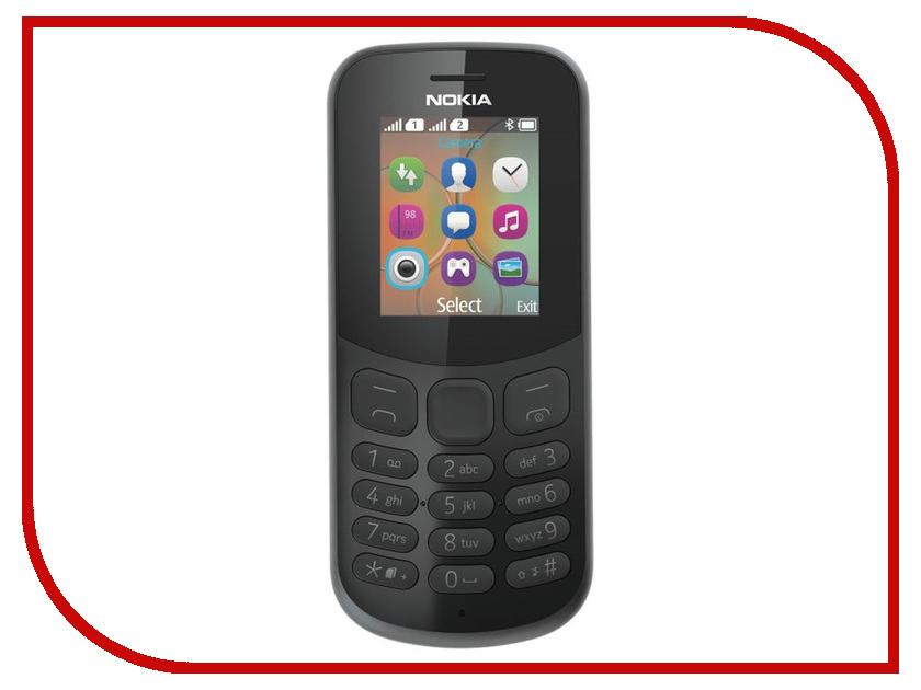 Фото Сотовый телефон Nokia 130 Dual sim (2017) Black сотовый телефон nokia 2 dual sim white