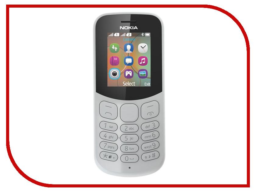 Сотовый телефон Nokia 130 Dual sim (2017) Grey мобильный телефон nokia 216 dual sim голубой