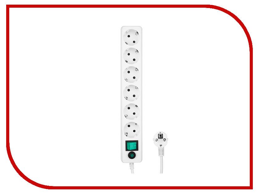 Сетевой фильтр Гарнизон 6 Sockets 1.8m EHW-6